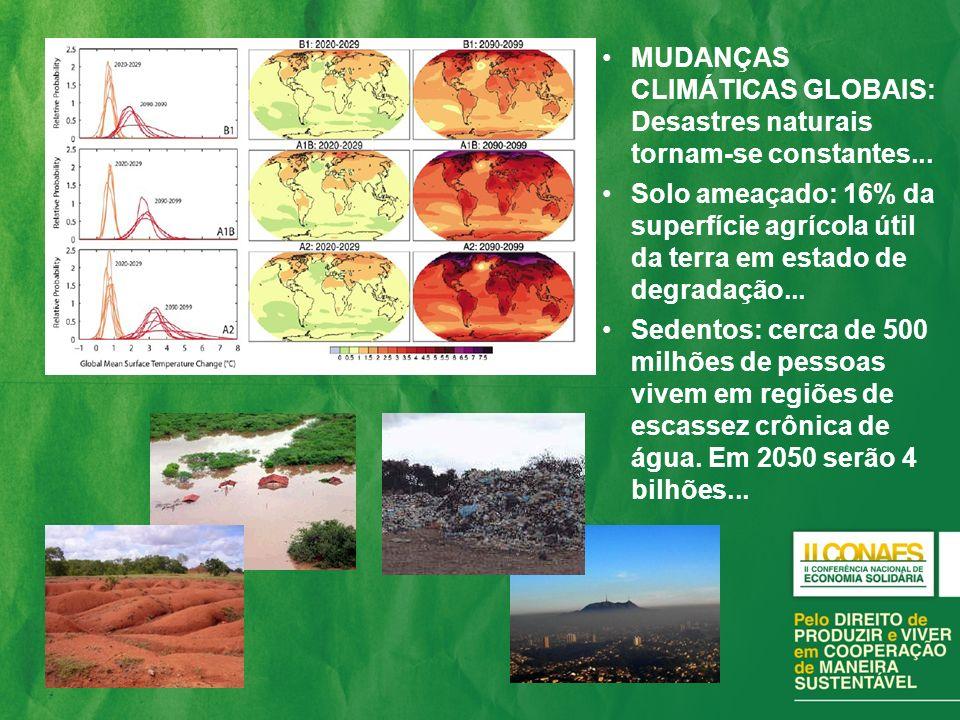 MUDANÇAS CLIMÁTICAS GLOBAIS: Desastres naturais tornam-se constantes...