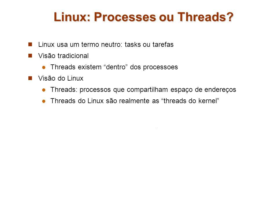 Linux: Processes ou Threads