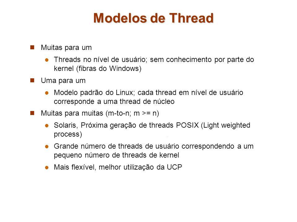 Modelos de Thread Muitas para um