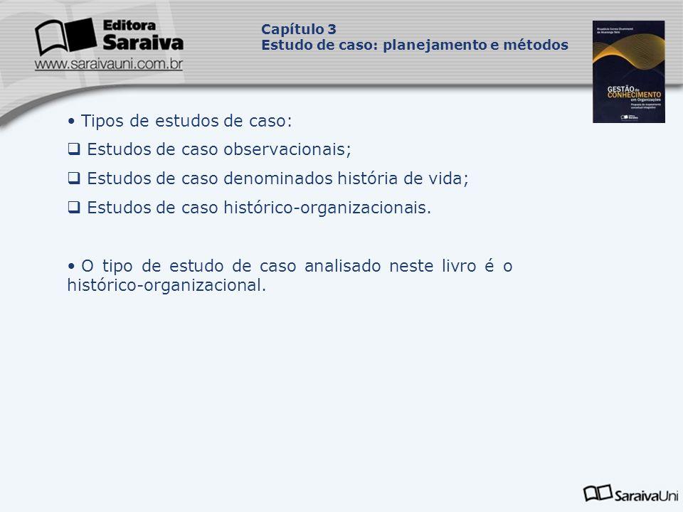 Tipos de estudos de caso: Estudos de caso observacionais;