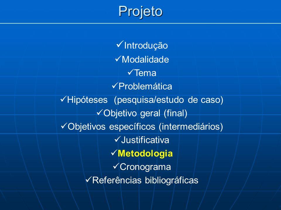 Projeto Introdução Modalidade Tema Problemática