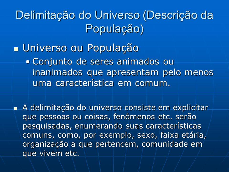 Delimitação do Universo (Descrição da População)