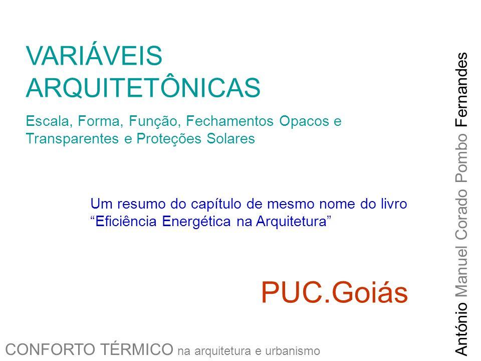 PUC.Goiás VARIÁVEIS ARQUITETÔNICAS