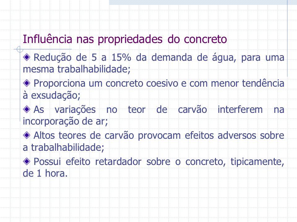 Influência nas propriedades do concreto