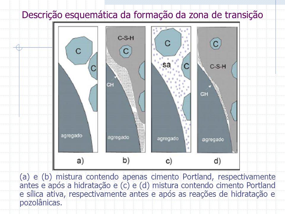 Descrição esquemática da formação da zona de transição