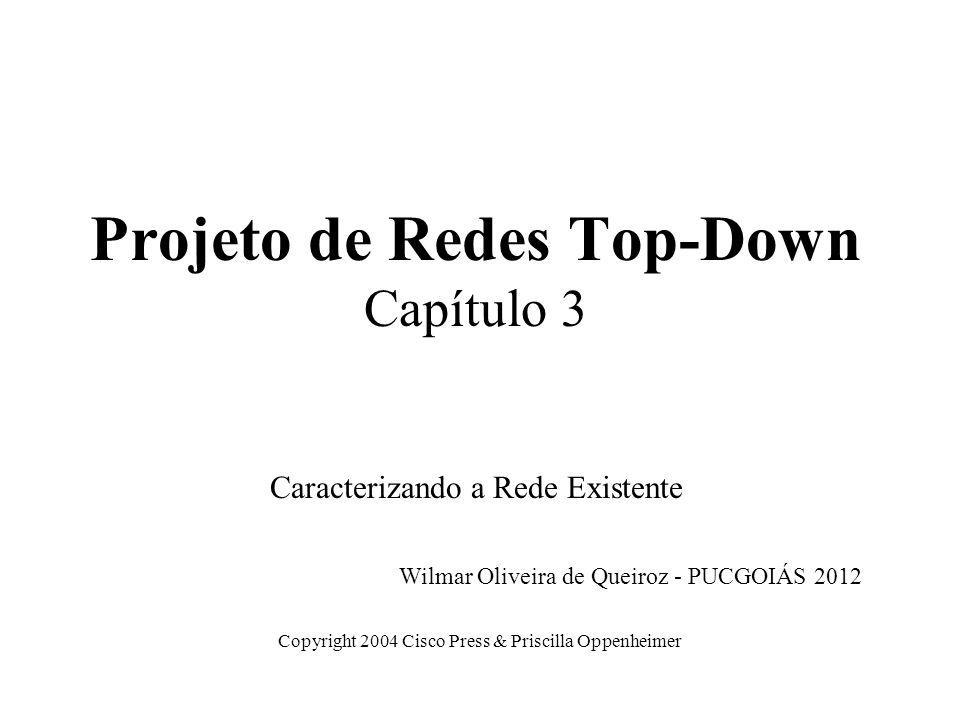 Projeto de Redes Top-Down Capítulo 3 Caracterizando a Rede Existente