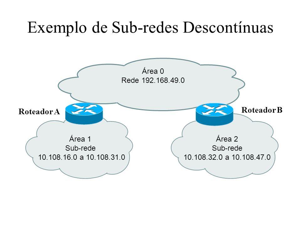 Exemplo de Sub-redes Descontínuas