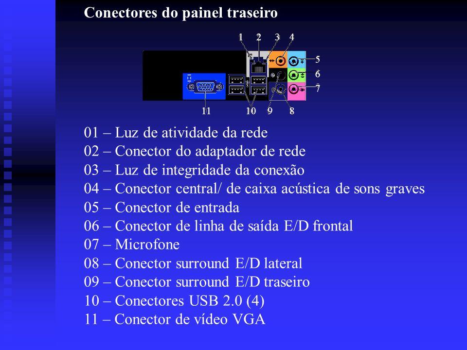 Conectores do painel traseiro