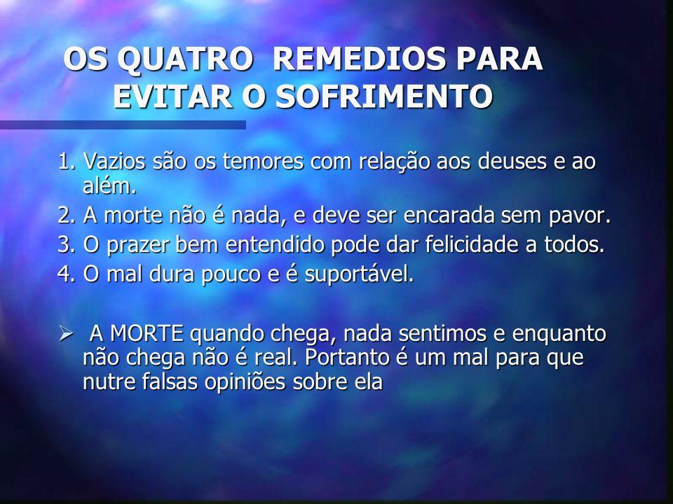 OS QUATRO REMEDIOS PARA EVITAR O SOFRIMENTO