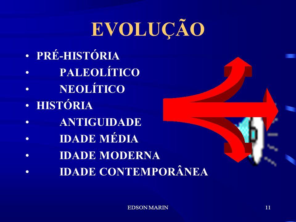 EVOLUÇÃO PRÉ-HISTÓRIA PALEOLÍTICO NEOLÍTICO HISTÓRIA ANTIGUIDADE