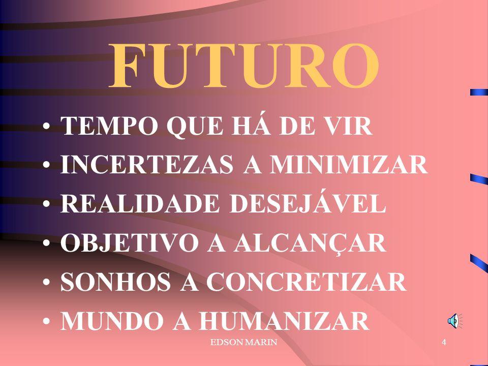 FUTURO TEMPO QUE HÁ DE VIR INCERTEZAS A MINIMIZAR REALIDADE DESEJÁVEL