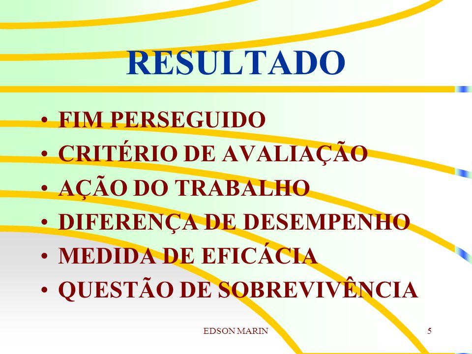 RESULTADO FIM PERSEGUIDO CRITÉRIO DE AVALIAÇÃO AÇÃO DO TRABALHO