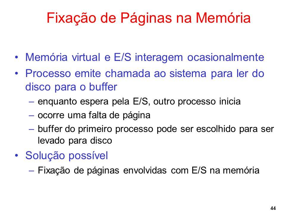Fixação de Páginas na Memória