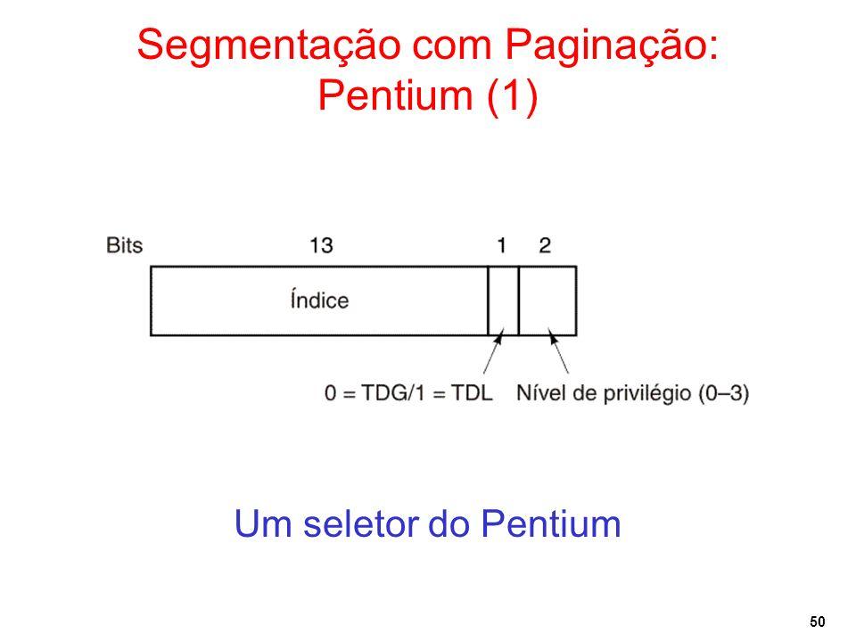 Segmentação com Paginação: Pentium (1)