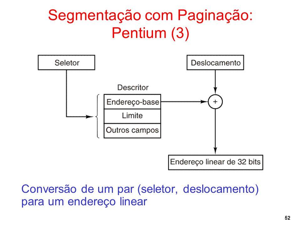 Segmentação com Paginação: Pentium (3)