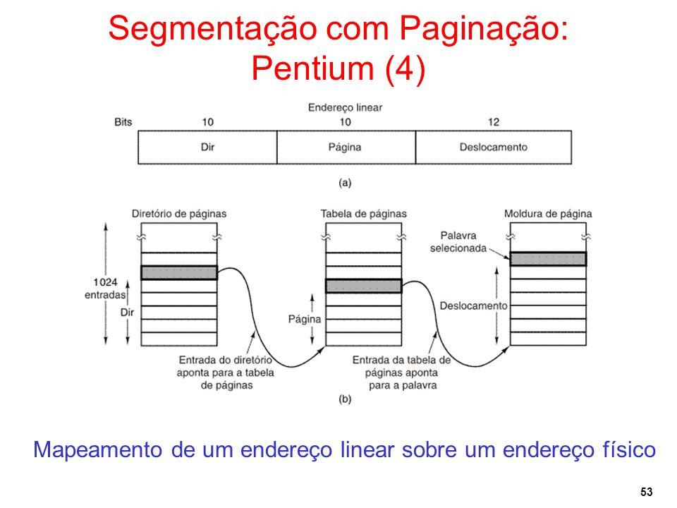 Segmentação com Paginação: Pentium (4)
