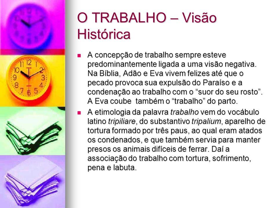 O TRABALHO – Visão Histórica