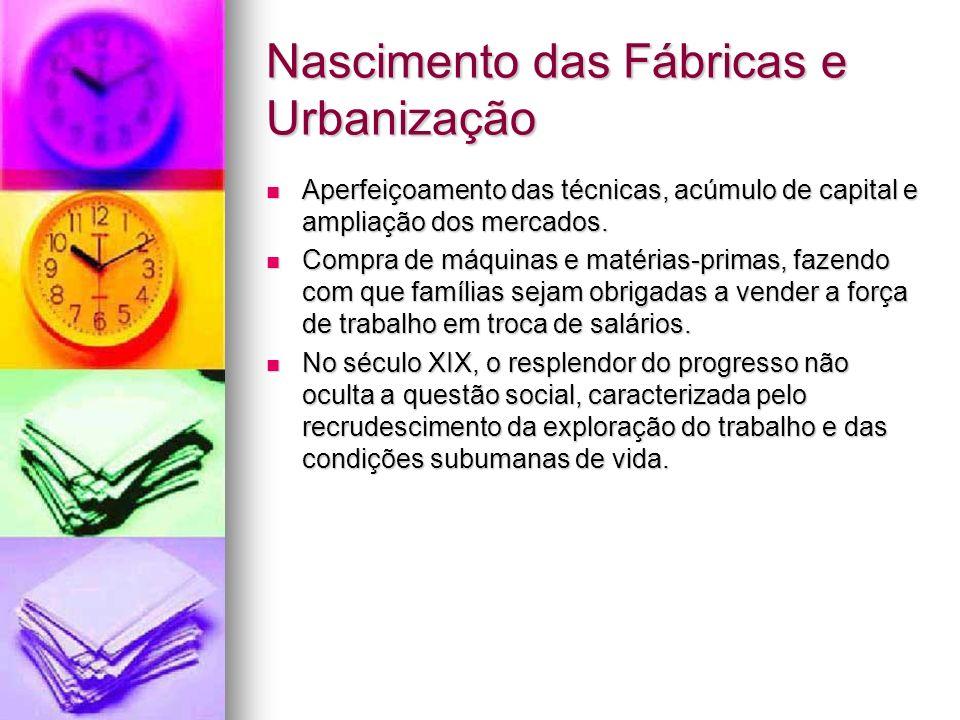 Nascimento das Fábricas e Urbanização