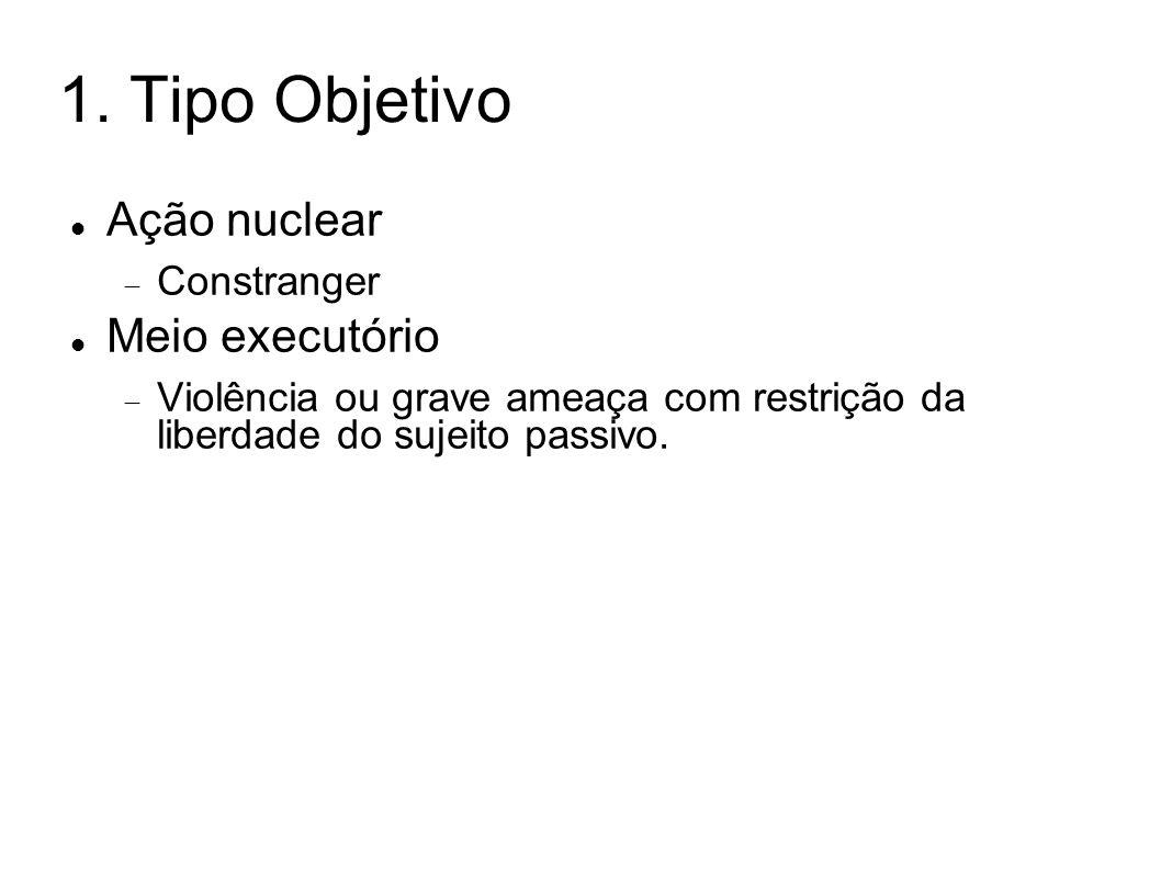 1. Tipo Objetivo Ação nuclear Meio executório Constranger