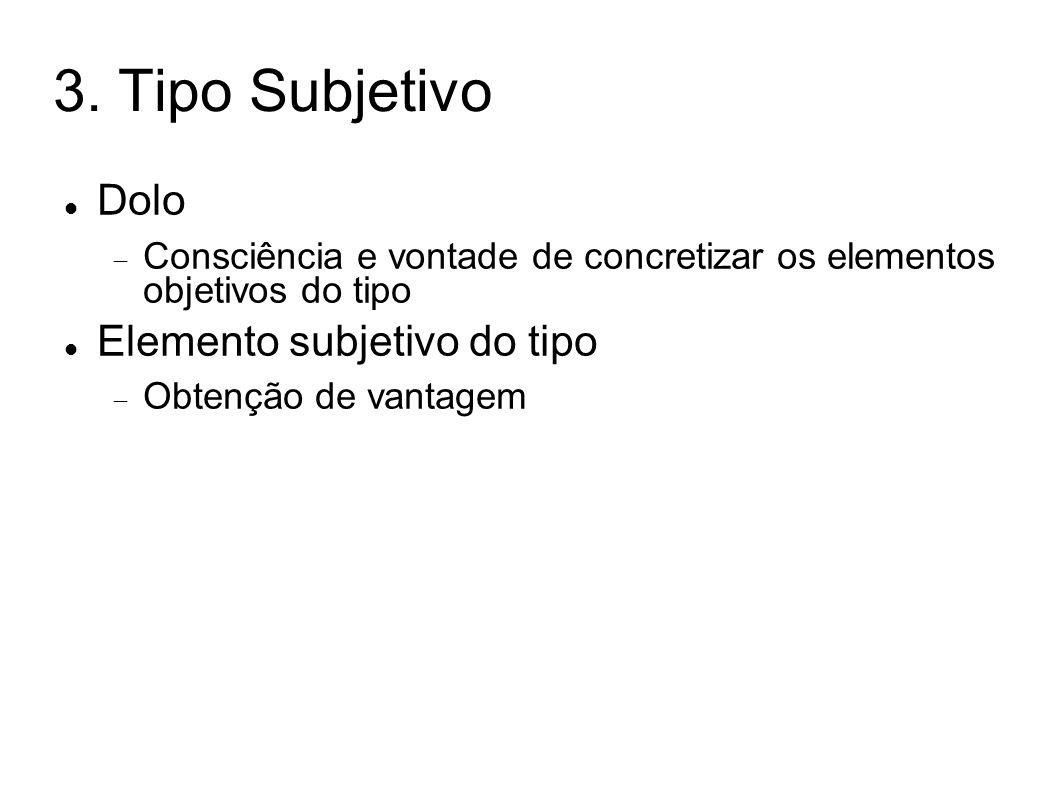3. Tipo Subjetivo Dolo Elemento subjetivo do tipo