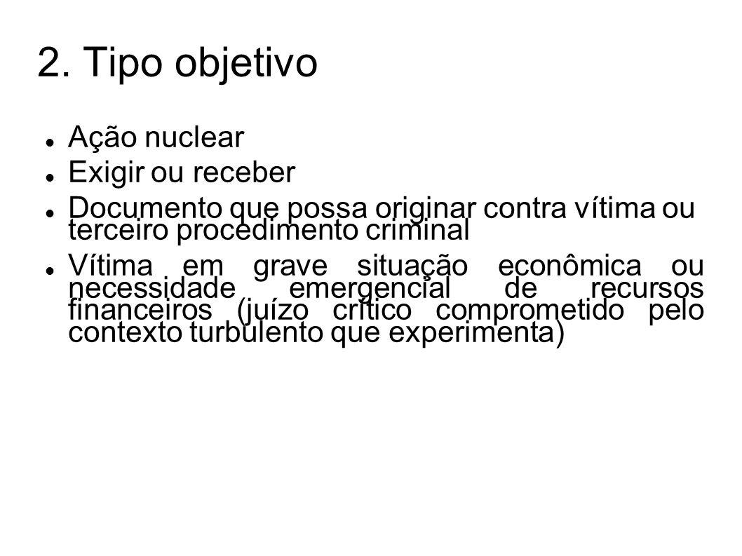 2. Tipo objetivo Ação nuclear Exigir ou receber
