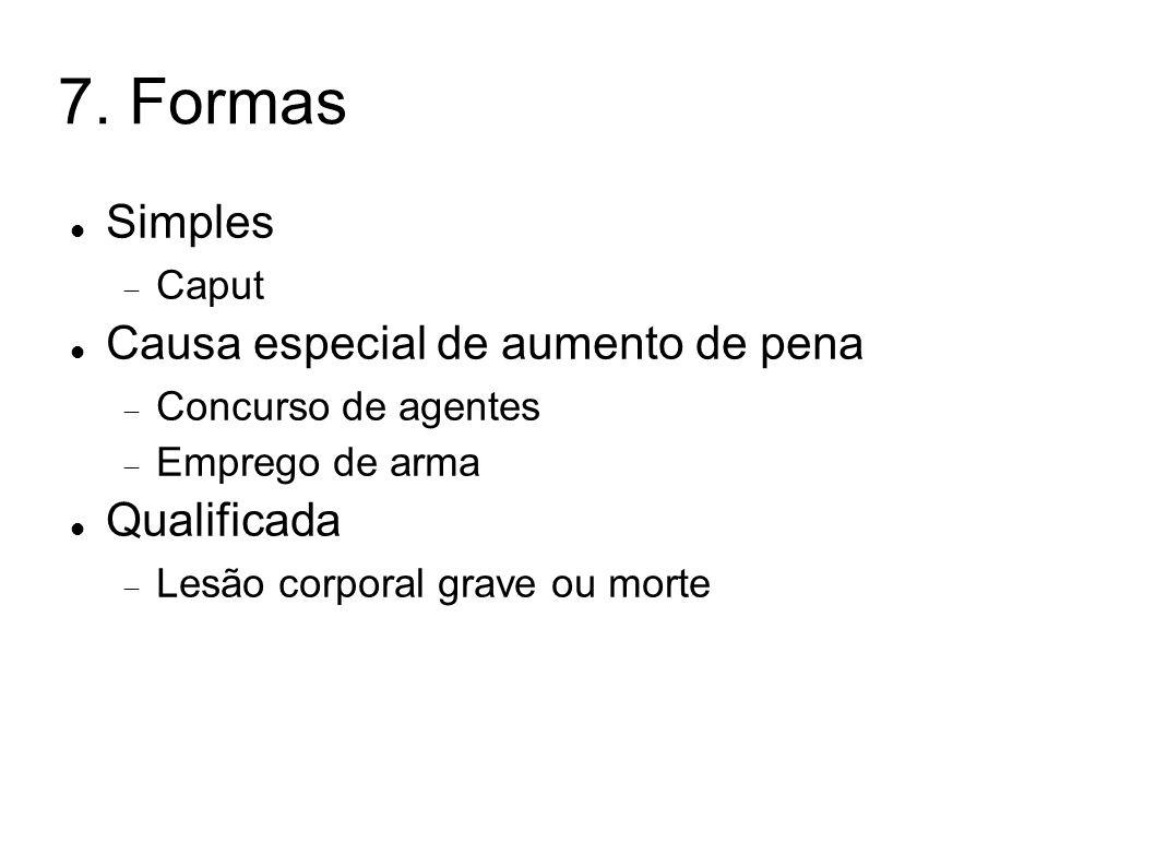 7. Formas Simples Causa especial de aumento de pena Qualificada Caput