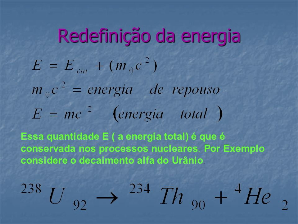 Redefinição da energia