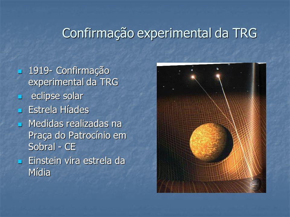 Confirmação experimental da TRG