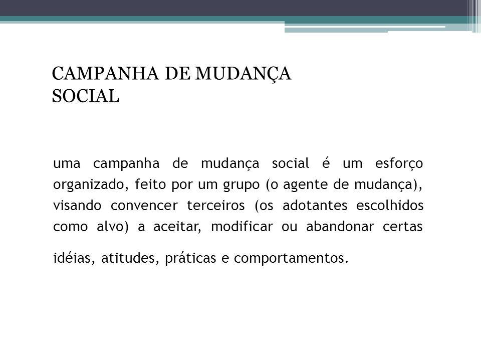 CAMPANHA DE MUDANÇA SOCIAL