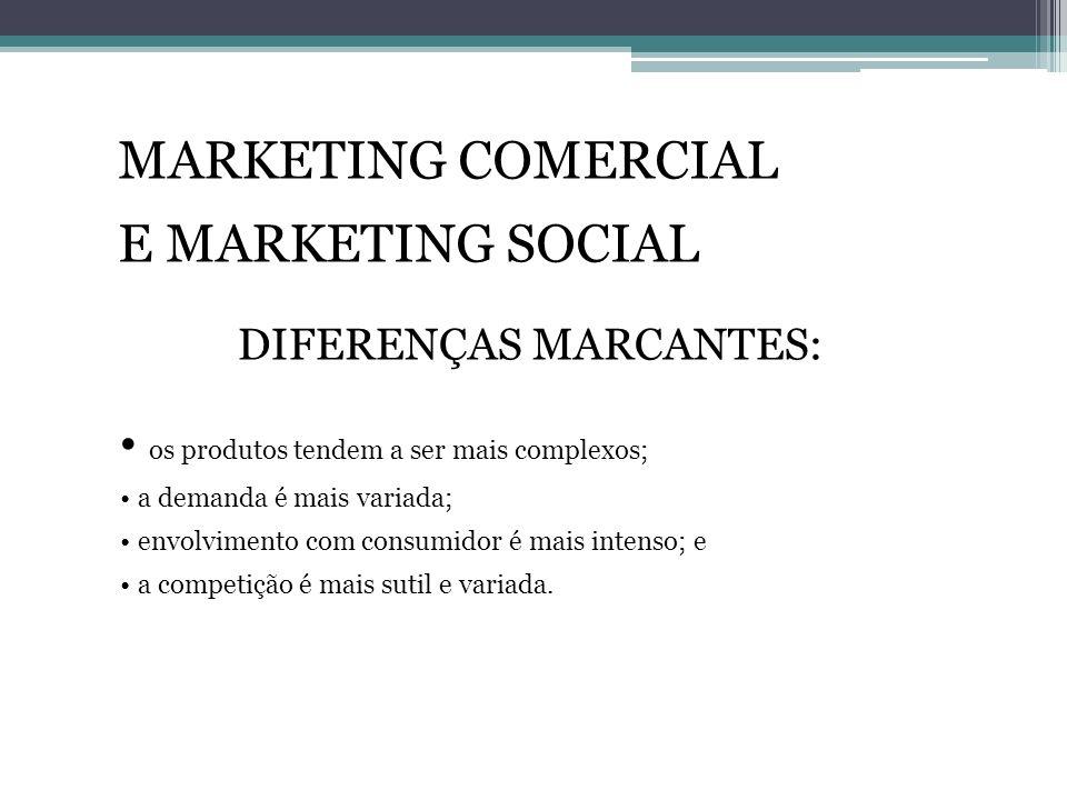 DIFERENÇAS MARCANTES: