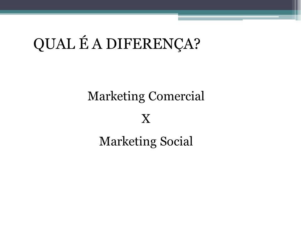 QUAL É A DIFERENÇA Marketing Comercial X Marketing Social