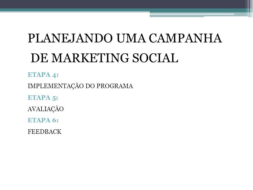 PLANEJANDO UMA CAMPANHA DE MARKETING SOCIAL