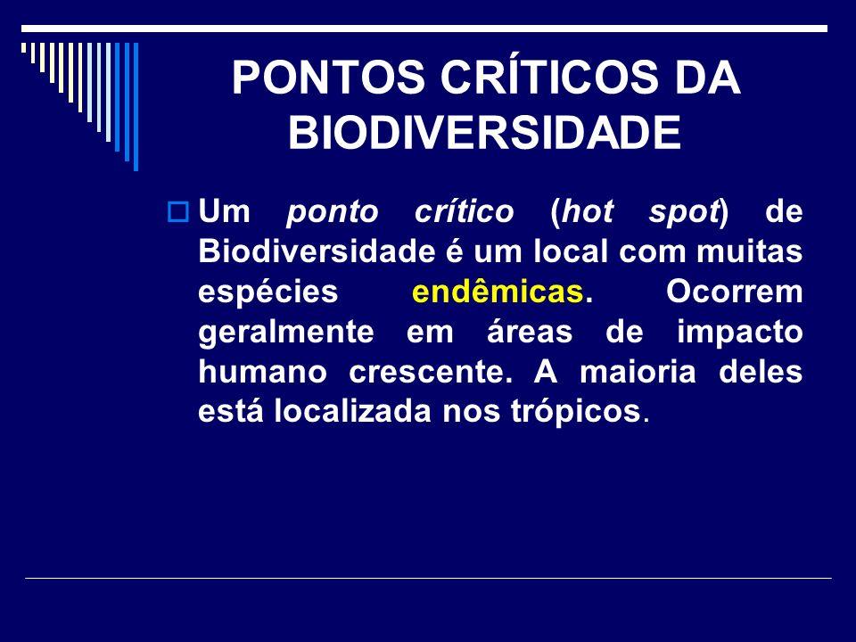 PONTOS CRÍTICOS DA BIODIVERSIDADE
