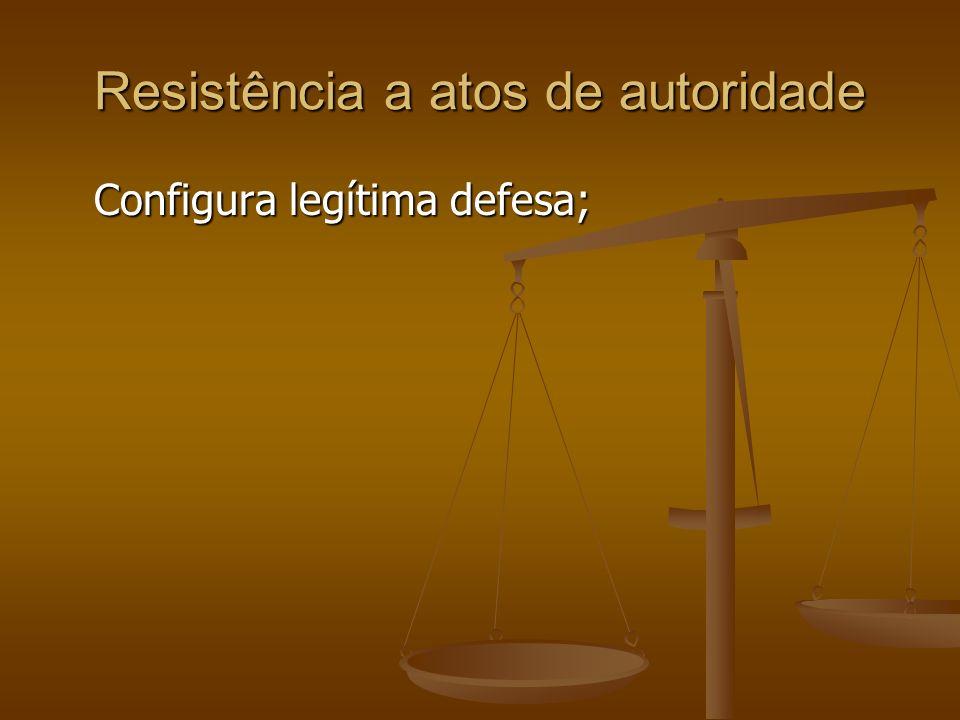 Resistência a atos de autoridade