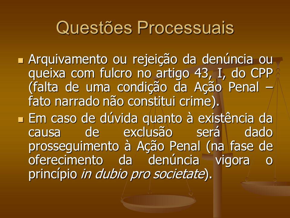 Questões Processuais
