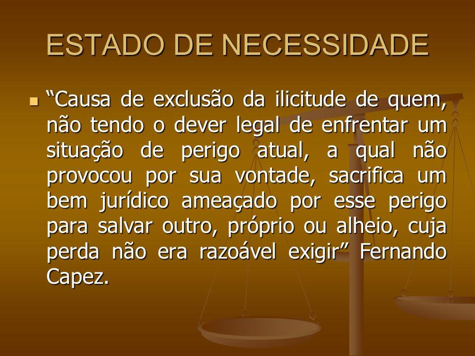 ESTADO DE NECESSIDADE