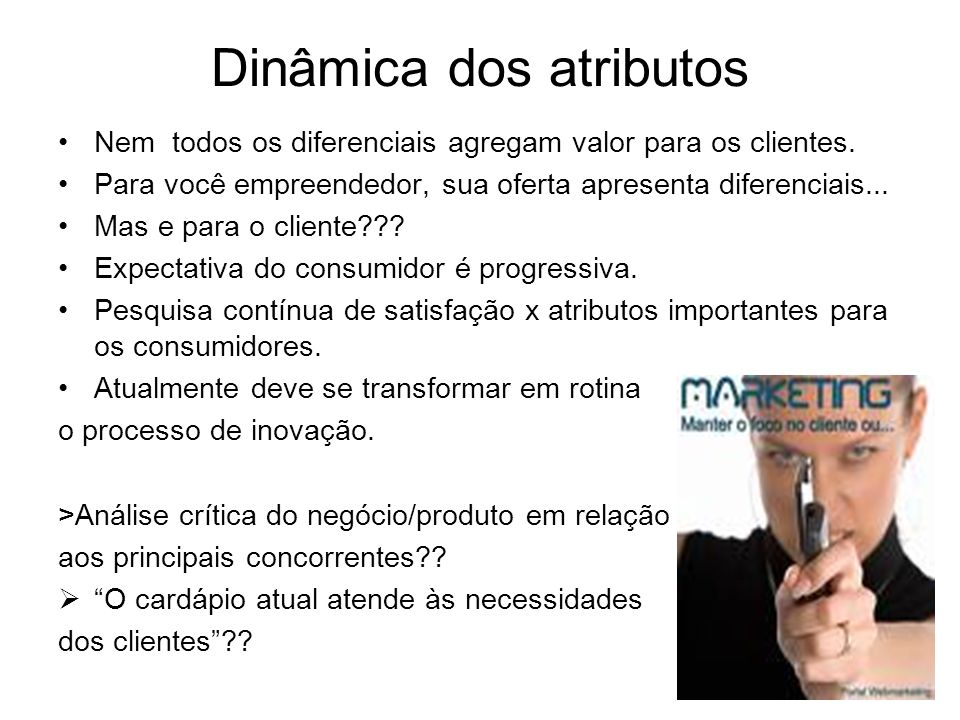 Dinâmica dos atributos