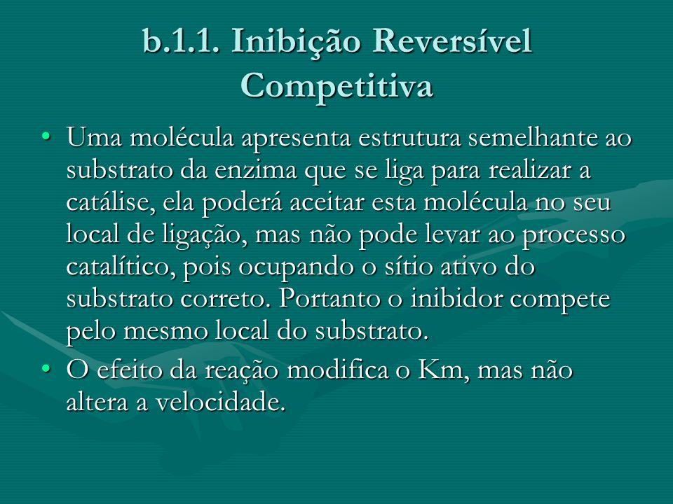 b.1.1. Inibição Reversível Competitiva