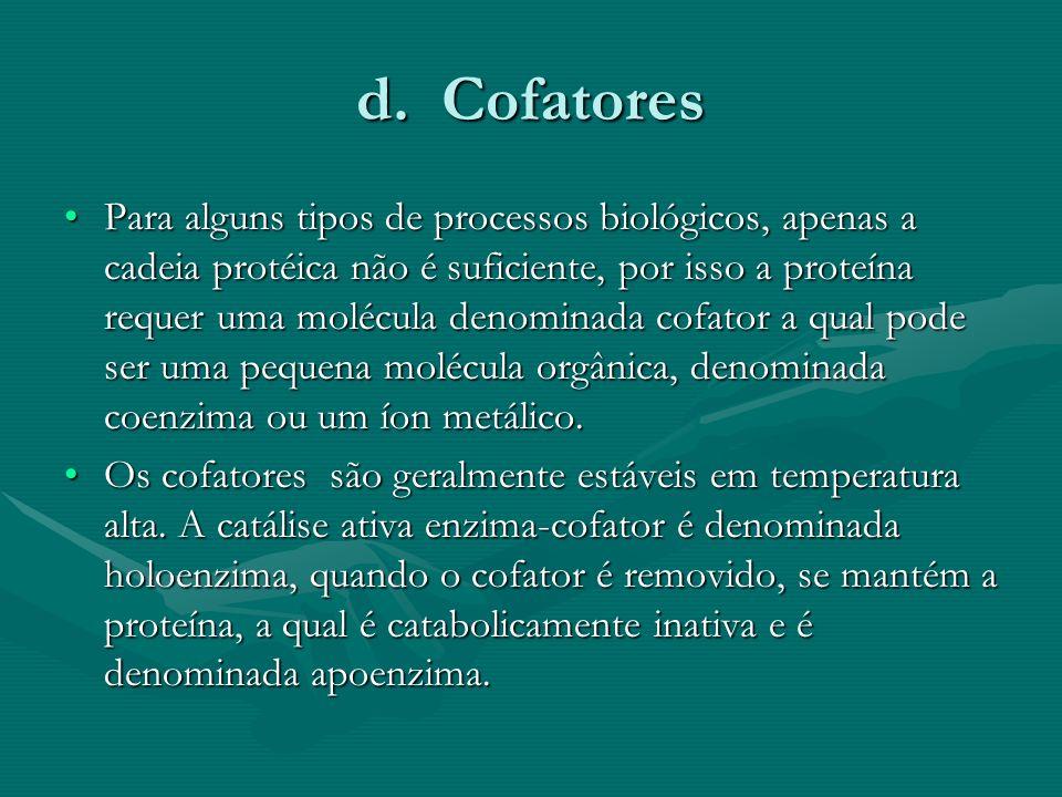 d. Cofatores