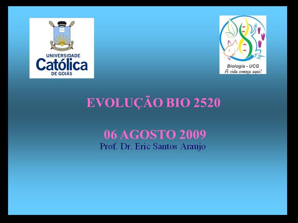 EVOLUÇÃO BIO 2520 06 AGOSTO 2009 Divisão em 02 continentes
