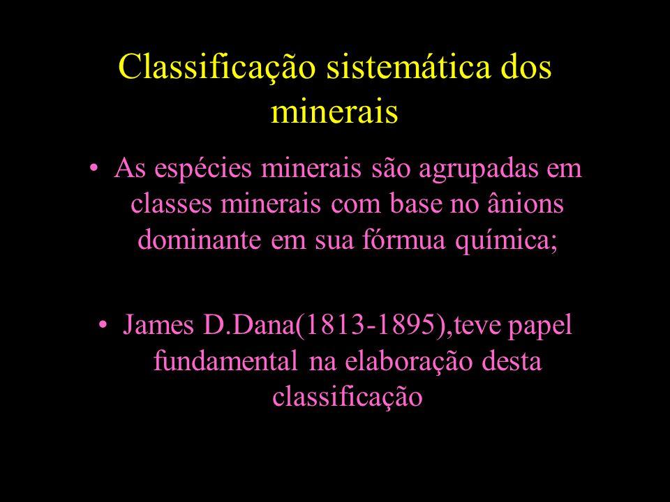 Classificação sistemática dos minerais
