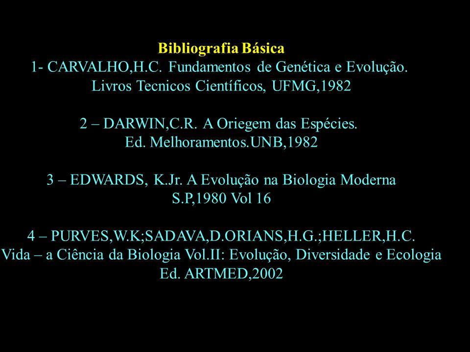 1- CARVALHO,H.C. Fundamentos de Genética e Evolução.