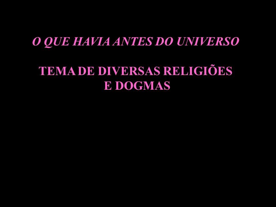 O QUE HAVIA ANTES DO UNIVERSO TEMA DE DIVERSAS RELIGIÕES
