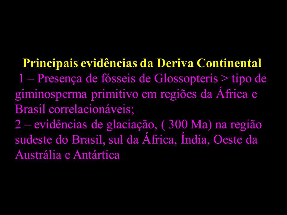 Principais evidências da Deriva Continental