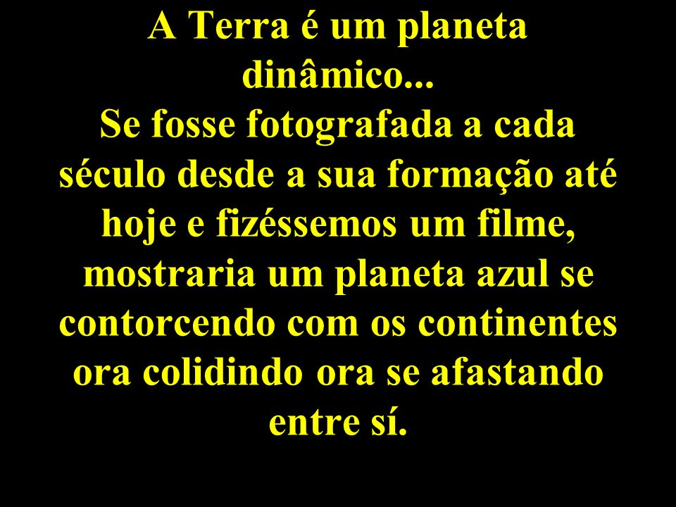 A Terra é um planeta dinâmico