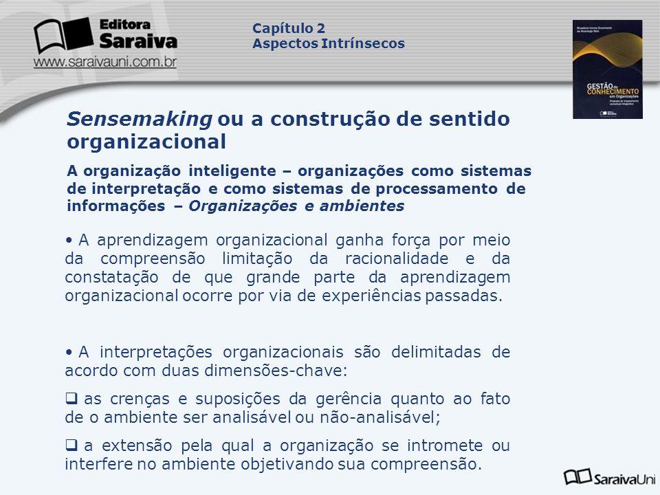Sensemaking ou a construção de sentido organizacional