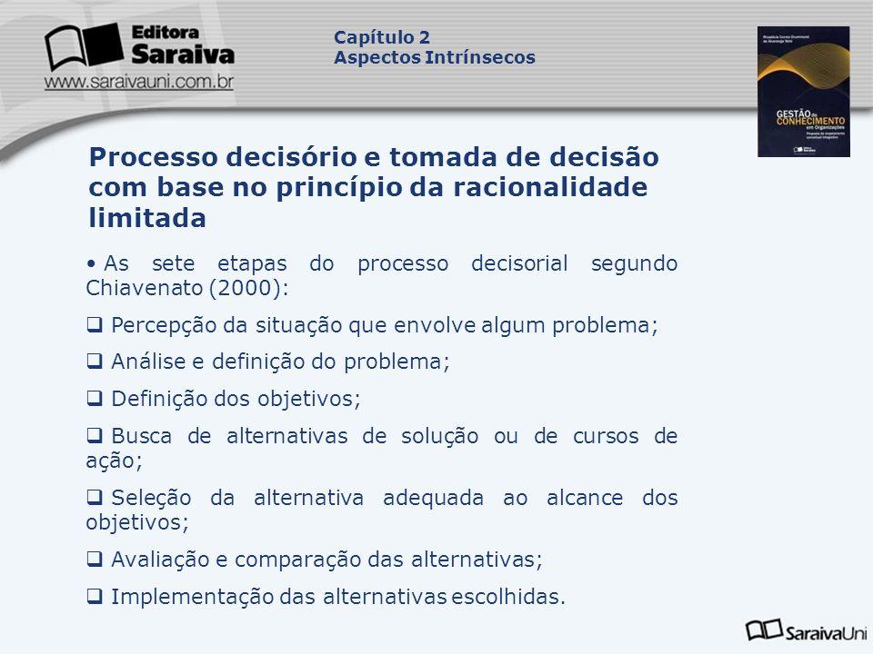 Capítulo 2Aspectos Intrínsecos. Processo decisório e tomada de decisão com base no princípio da racionalidade limitada.