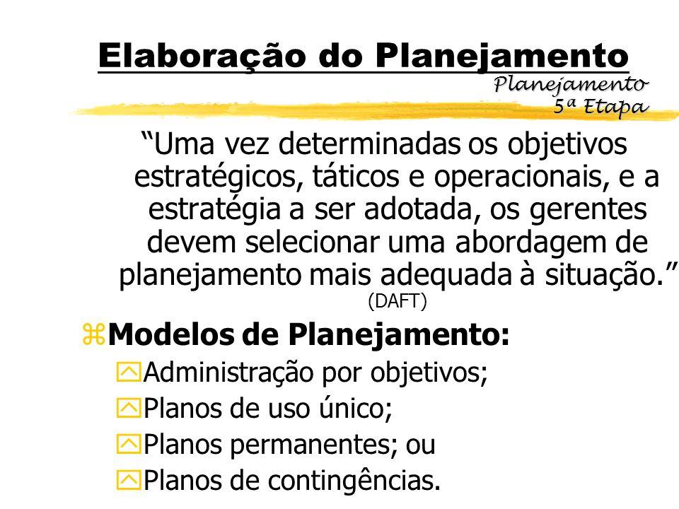 Elaboração do Planejamento
