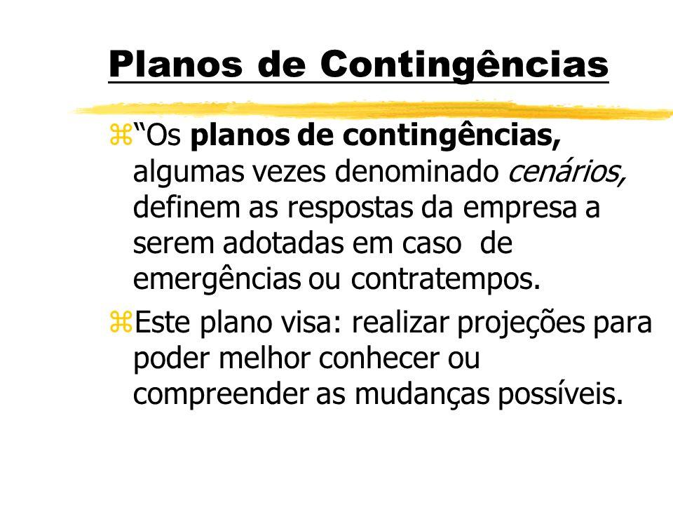 Planos de Contingências