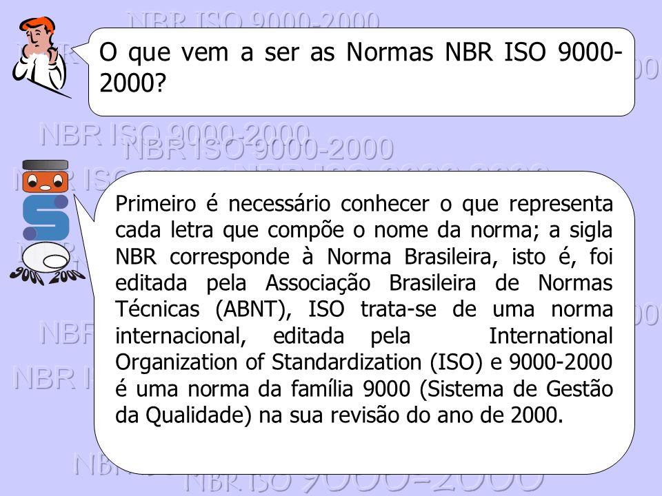NBR ISO 9000-2000 O que vem a ser as Normas NBR ISO 9000-2000